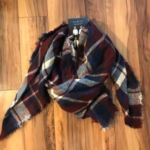Accessories - NWT Plaid Blanket Scarf